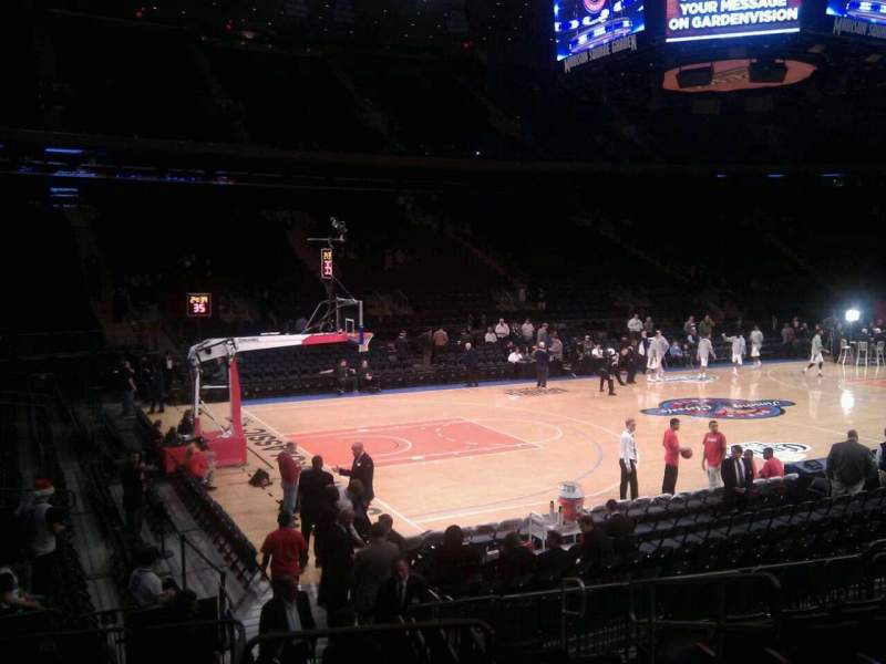 Seating view for Madison Square Garden Section 105 Row 9 Seat 12