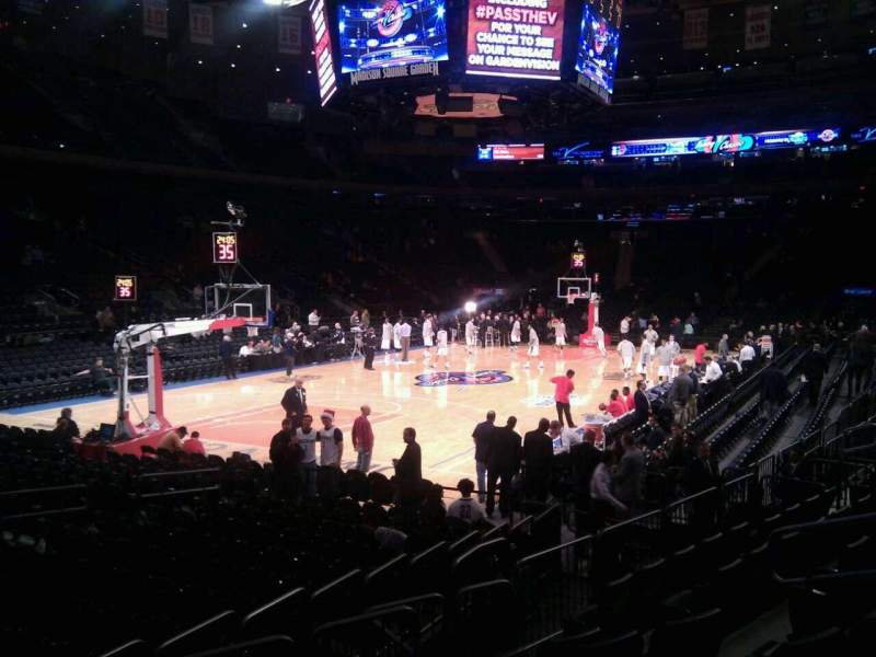 Seating view for Madison Square Garden Section 104 Row 6 Seat 8