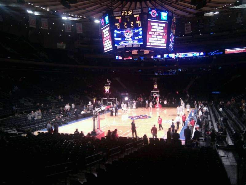 Seating view for Madison Square Garden Section 103 Row 10 Seat 10