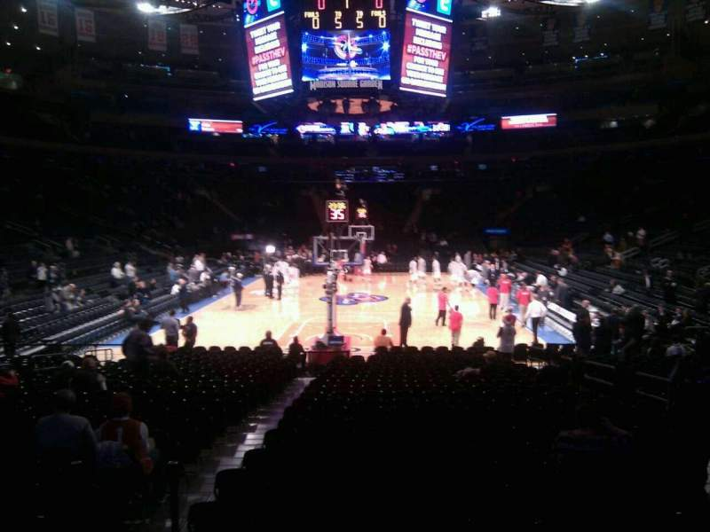 Seating view for Madison Square Garden Section 102 Row 8 Seat 11