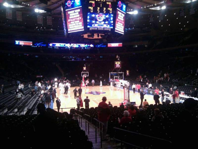 Seating view for Madison Square Garden Section 101 Row 6 Seat 10