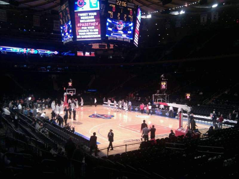 Seating view for Madison Square Garden Section 120 Row 9 Seat 10