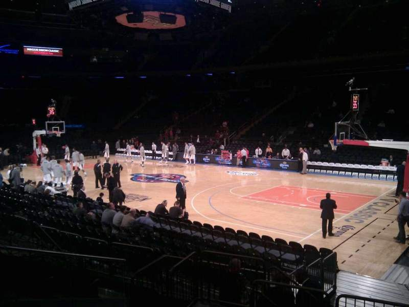 Seating view for Madison Square Garden Section 119 Row 7 Seat 5