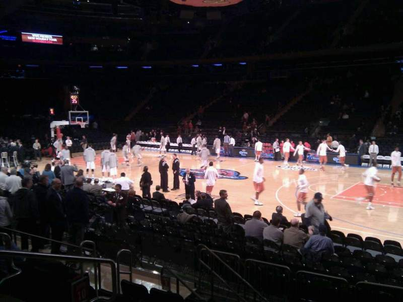 Seating view for Madison Square Garden Section 118 Row 6 Seat 4