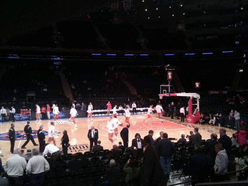 Seating view for Madison Square Garden Section 117 Row 6 Seat 13