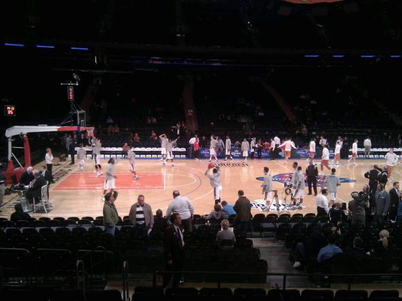 Seating view for Madison Square Garden Section 116 Row 8 Seat 16