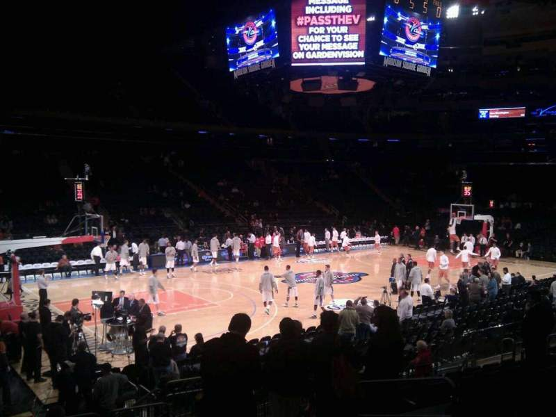 Seating view for Madison Square Garden Section 115 Row 10 Seat 12