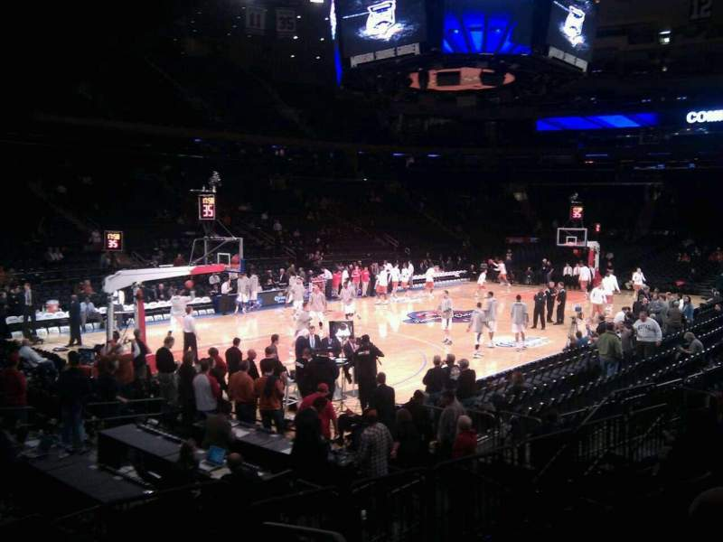 Seating view for Madison Square Garden Section 114 Row 8 Seat 1