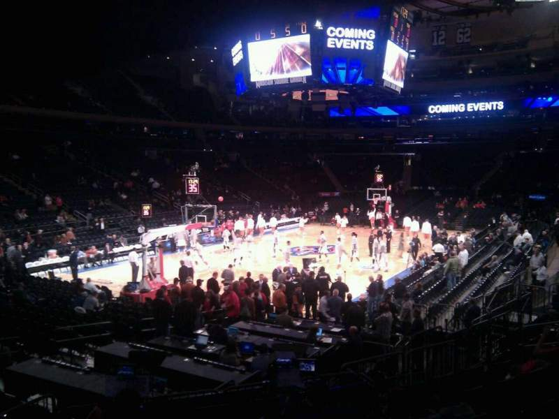 Seating view for Madison Square Garden Section 114 Row 11 Seat 4