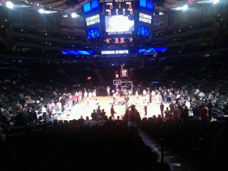 Seating view for Madison Square Garden Section 112 Row 7 Seat 5