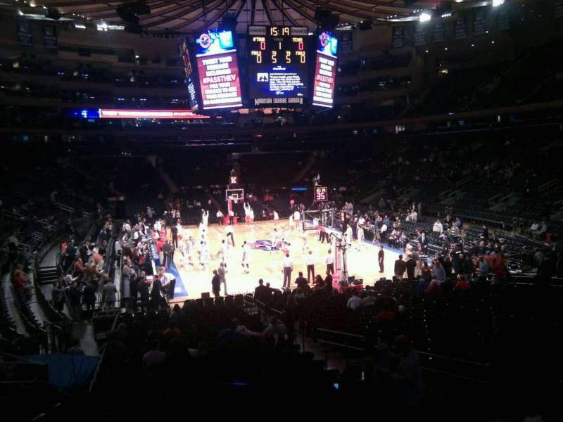 Seating view for Madison Square Garden Section 111 Row 15 Seat 14