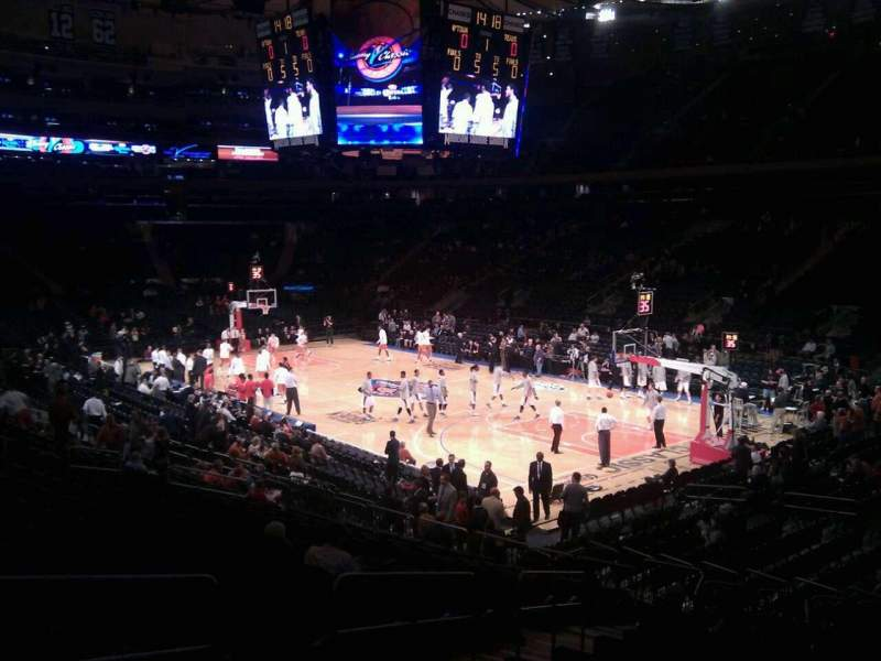 Seating view for Madison Square Garden Section 110 Row 16 Seat 4