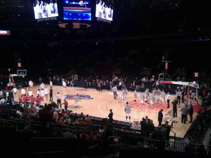 Seating view for Madison Square Garden Section 109 Row 12 Seat 6