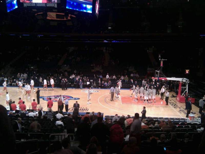 Seating view for Madison Square Garden Section 108 Row 12 Seat 3