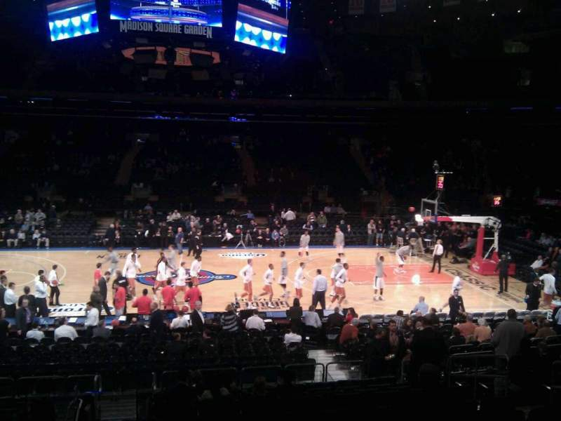 Seating view for Madison Square Garden Section 107 Row 13 Seat 13