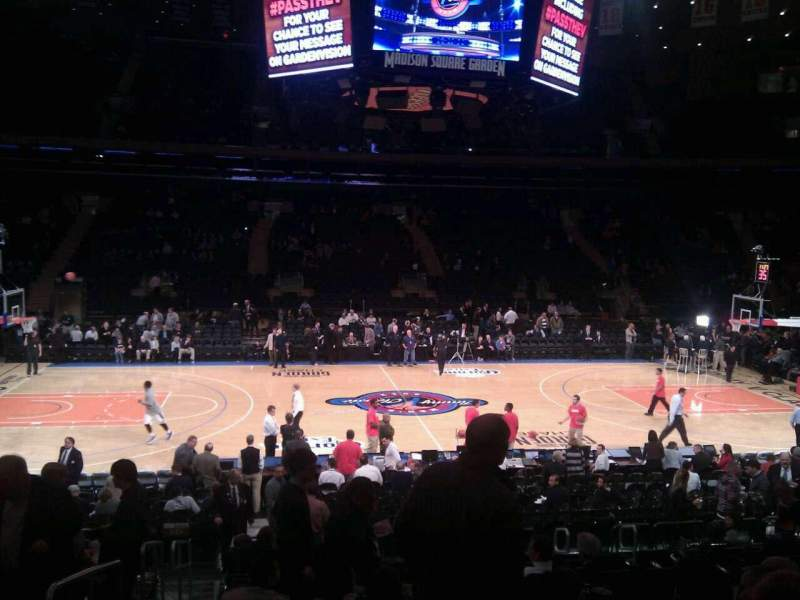 Seating view for Madison Square Garden Section 107 Row 13 Seat 1