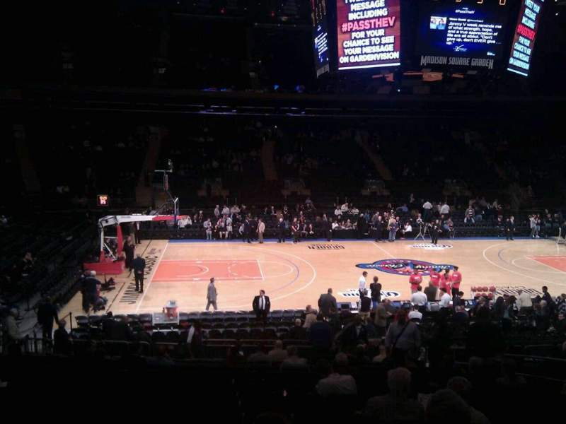 Seating view for Madison Square Garden Section 106 Row 17 Seat 12