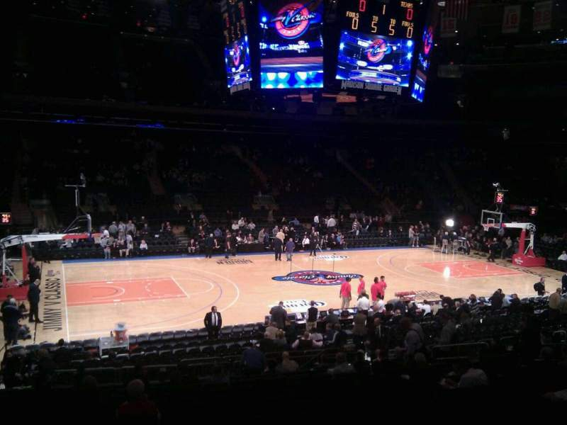 Seating view for Madison Square Garden Section 106 Row 17 Seat 2