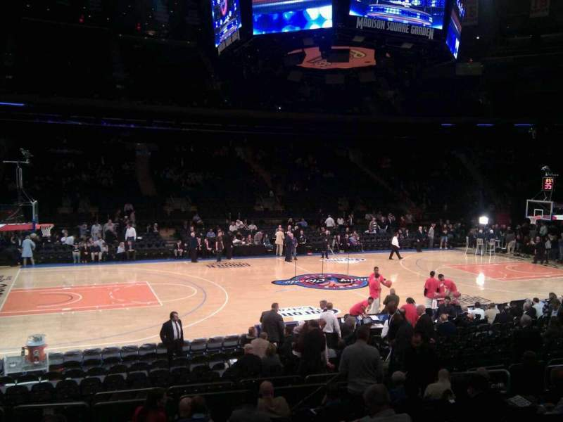 Seating view for Madison Square Garden Section 106 Row 10 Seat 10