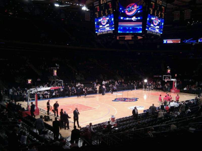 Seating view for Madison Square Garden Section 105 Row 12 Seat 2