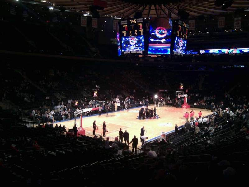 Seating view for Madison Square Garden Section 104 Row 17 Seat 10