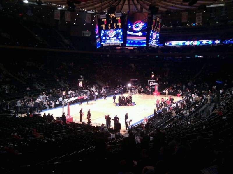Seating view for Madison Square Garden Section 104 Row 17 Seat 3