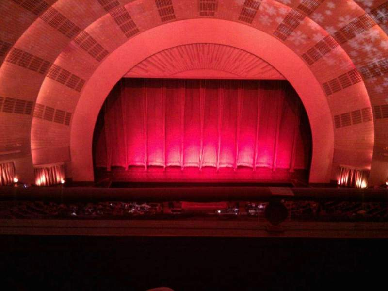 Seating view for Radio City Music Hall Section 3rd Mezzanine 4 Row b Seat 410
