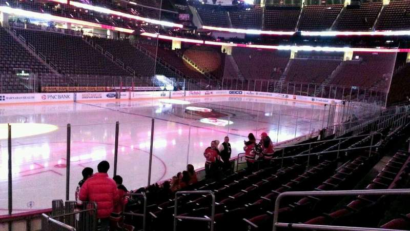 Seating view for Prudential Center Section 16 Row 10 Seat 4