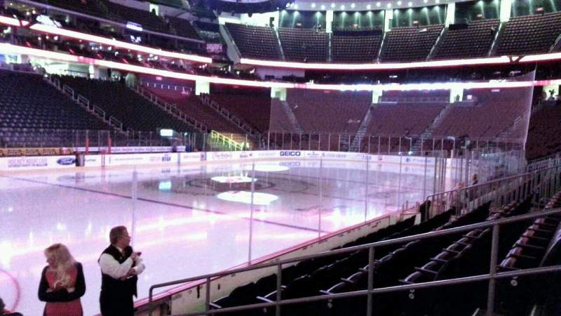 Seating view for Prudential Center Section 17 Row 6 Seat 5