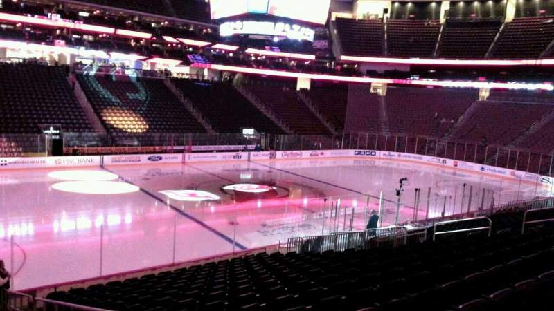 Seating view for Prudential Center Section 17 Row 17 Seat 1