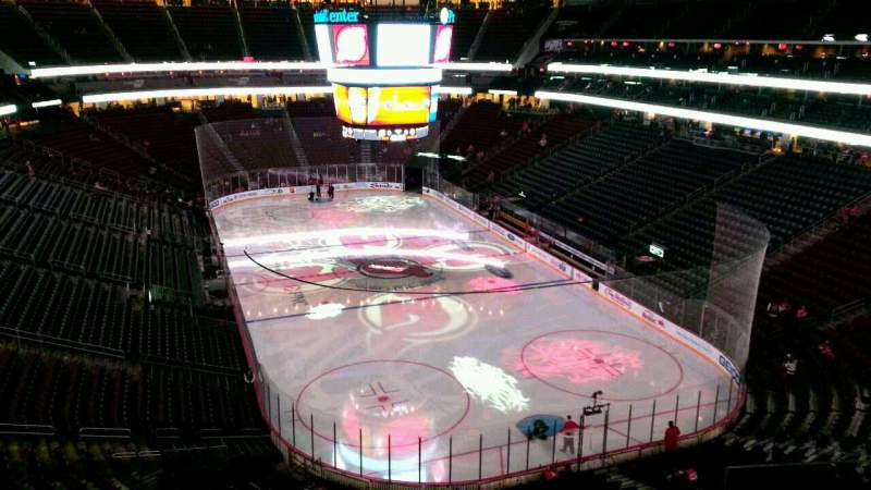Seating view for Prudential Center Section 101 Row 6 Seat 6