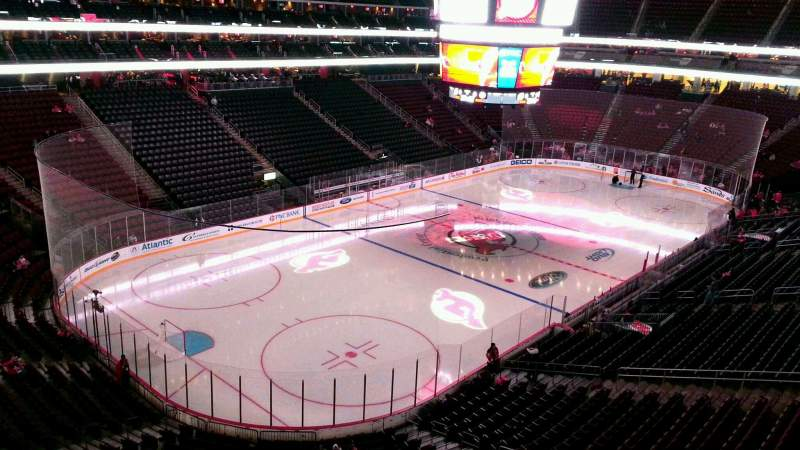 Seating view for Prudential Center Section 107 Row 3 Seat 10