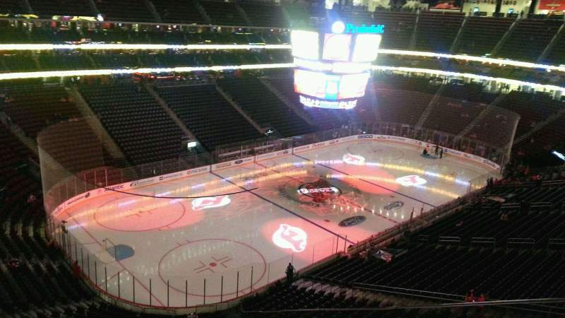 Seating view for Prudential Center Section 107 Row 10 Seat 1