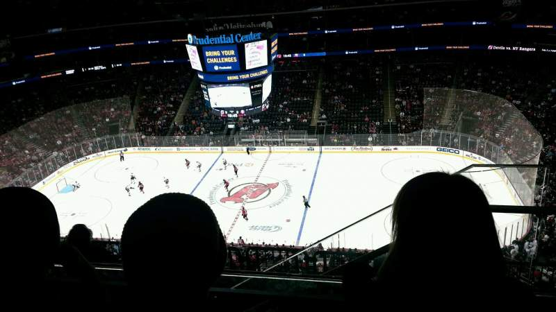 Seating view for Prudential Center Section 213 Row 3 Seat 3