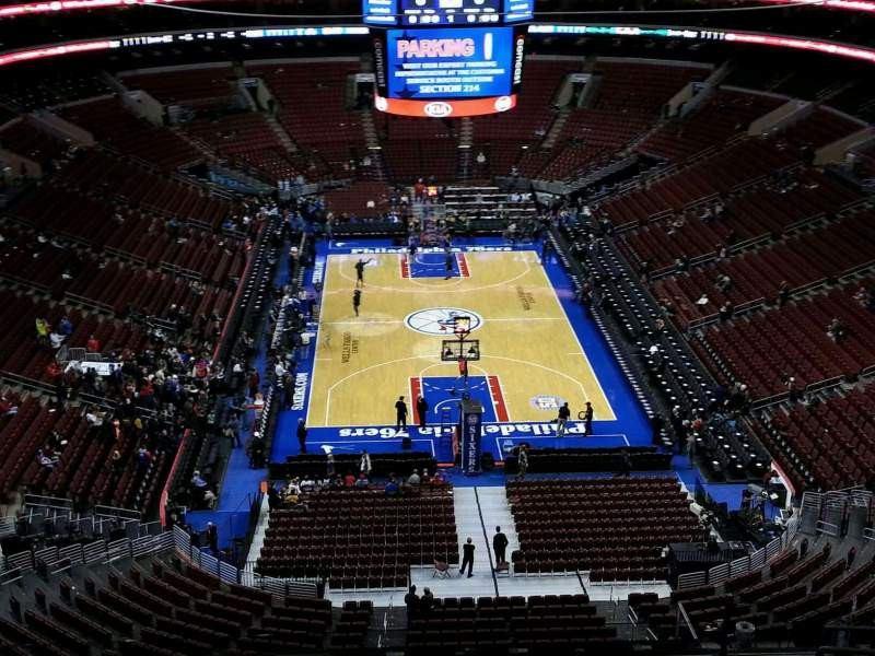 Seating view for Wells Fargo Center Section 207 Row 11 Seat 13