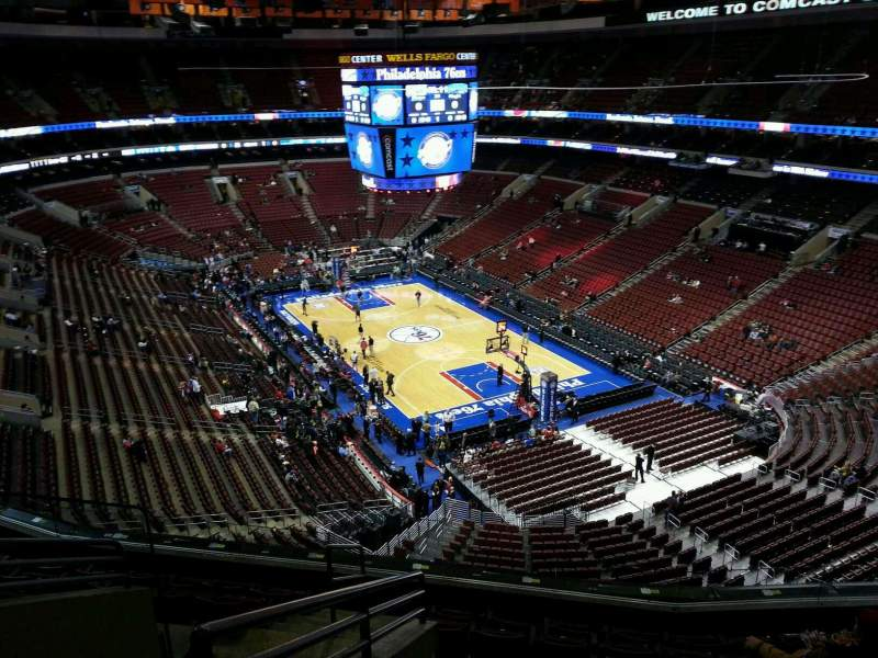 Seating view for Wells Fargo Center Section 205a Row 8 Seat 3