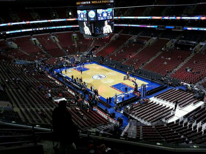 Seating view for Wells Fargo Center Section 205 Row 8 Seat 3