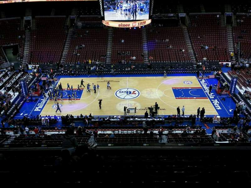 Seating view for Wells Fargo Center Section 201 Row 8 Seat 10