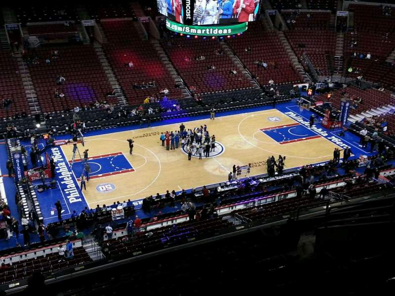 Seating view for Wells Fargo Center Section 223 Row 10 Seat 13