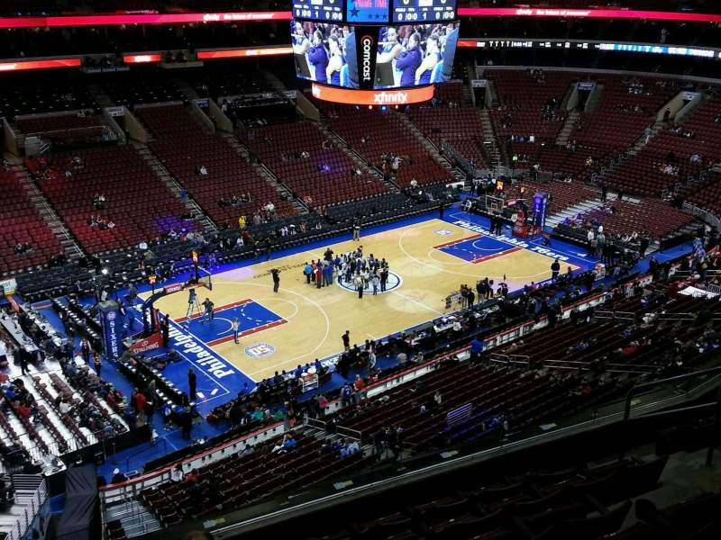 Seating view for Wells Fargo Center Section 222a Row 7 Seat 3