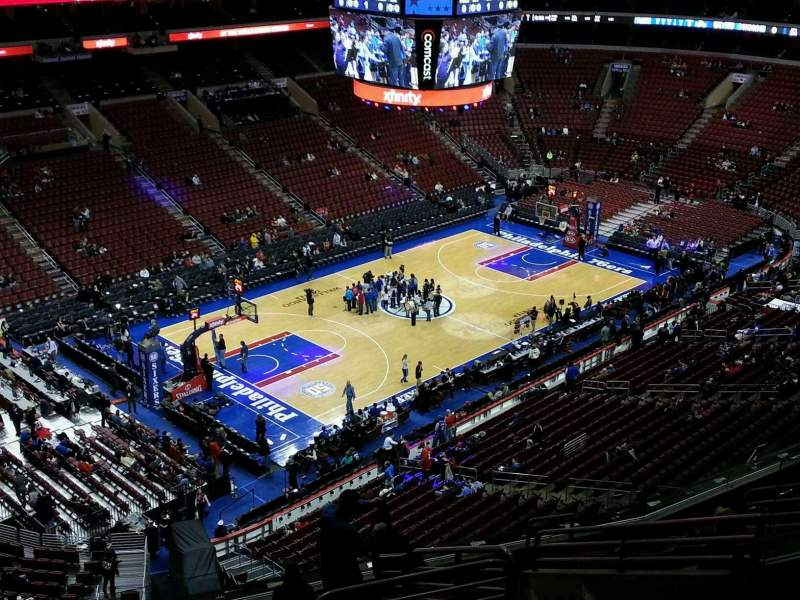 Seating view for Wells Fargo Center Section 222 Row 11 Seat 10