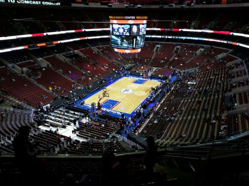 Seating view for Wells Fargo Center Section 221 Row 11 Seat 11