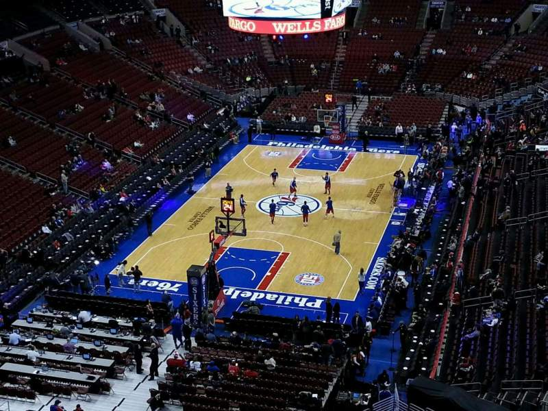 Seating view for Wells Fargo Center Section 220 Row 10 Seat 11