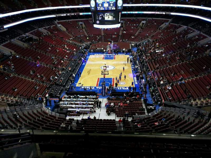 Seating view for Wells Fargo Center Section 219a Row 9 Seat 6
