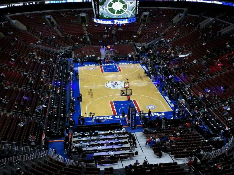Seating view for Wells Fargo Center Section 219 Row 10 Seat 6