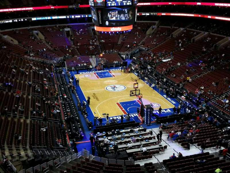 Seating view for Wells Fargo Center Section 218 Row 6 Seat 4