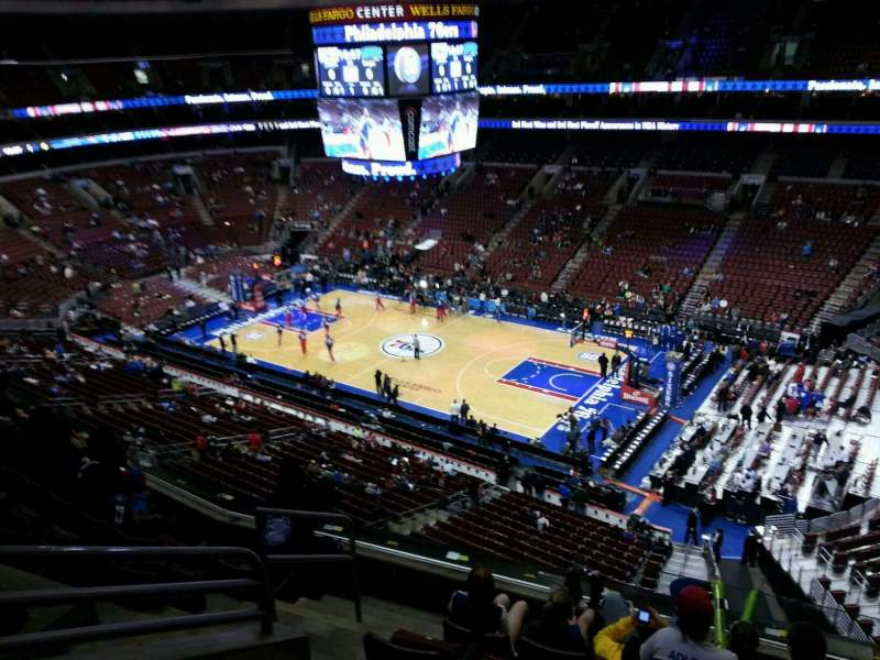 Seating view for Wells Fargo Center Section 216 Row 6 Seat 1