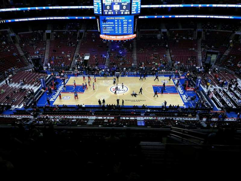 Seating view for Wells Fargo Center Section 213 Row 10 Seat 13