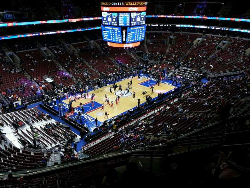 Seating view for Wells Fargo Center Section 211 Row 12 Seat 11