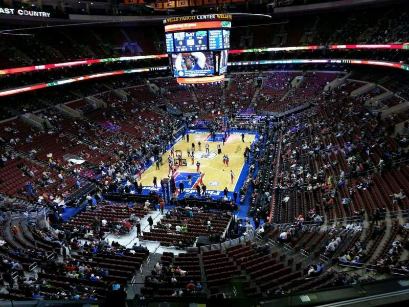 Seating view for Wells Fargo Center Section 208 Row 4 Seat 6